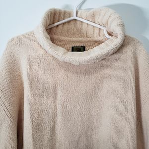 Private member light yellow cowl neck XL sweater